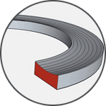 Opěrný kroužek - těsnění